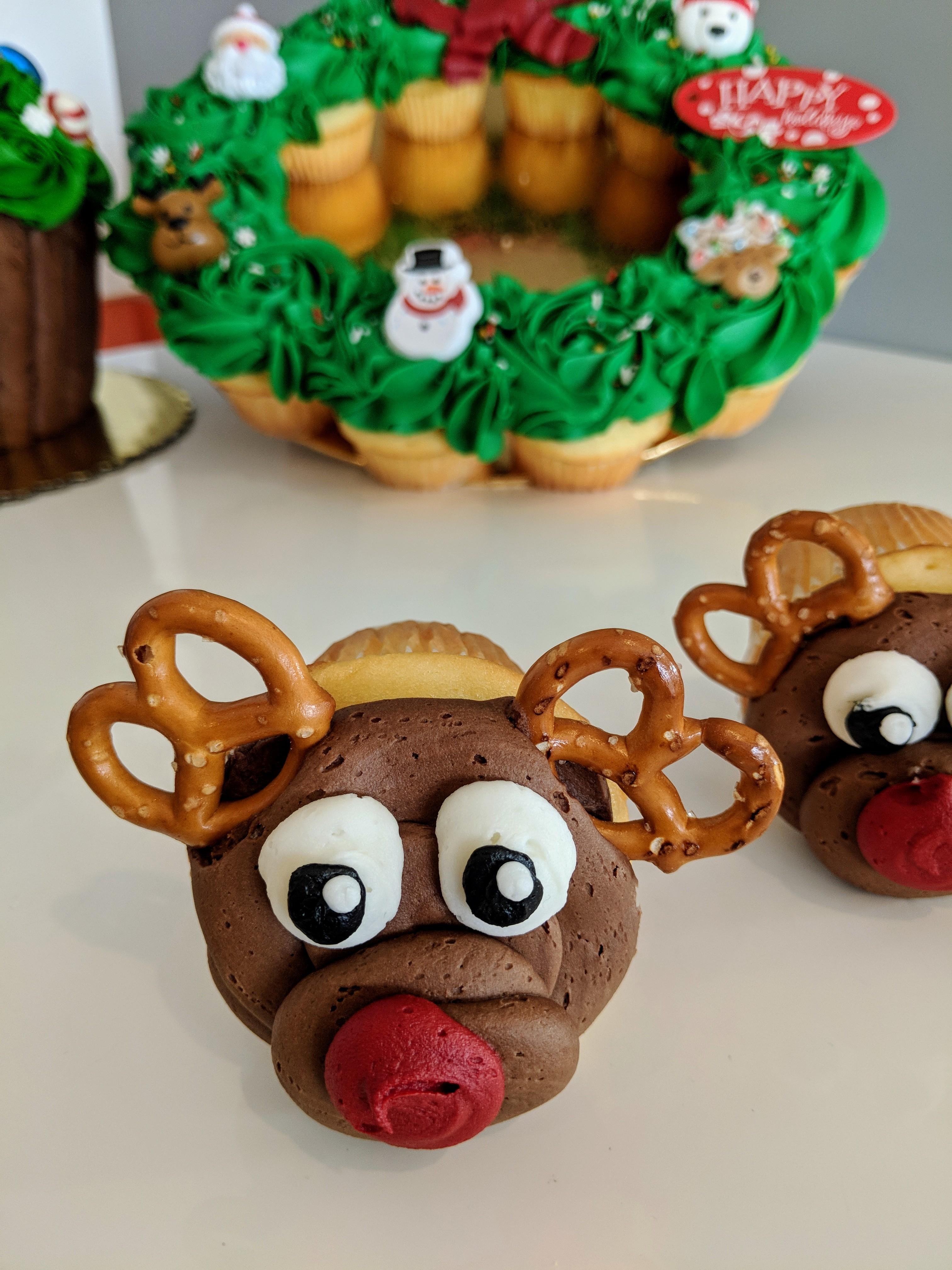 Reindeer Cupcake $3.50