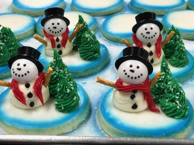 Snowman 3D Sugar Cookie $3.75