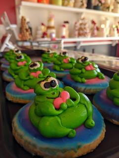 3D Frog Cookies