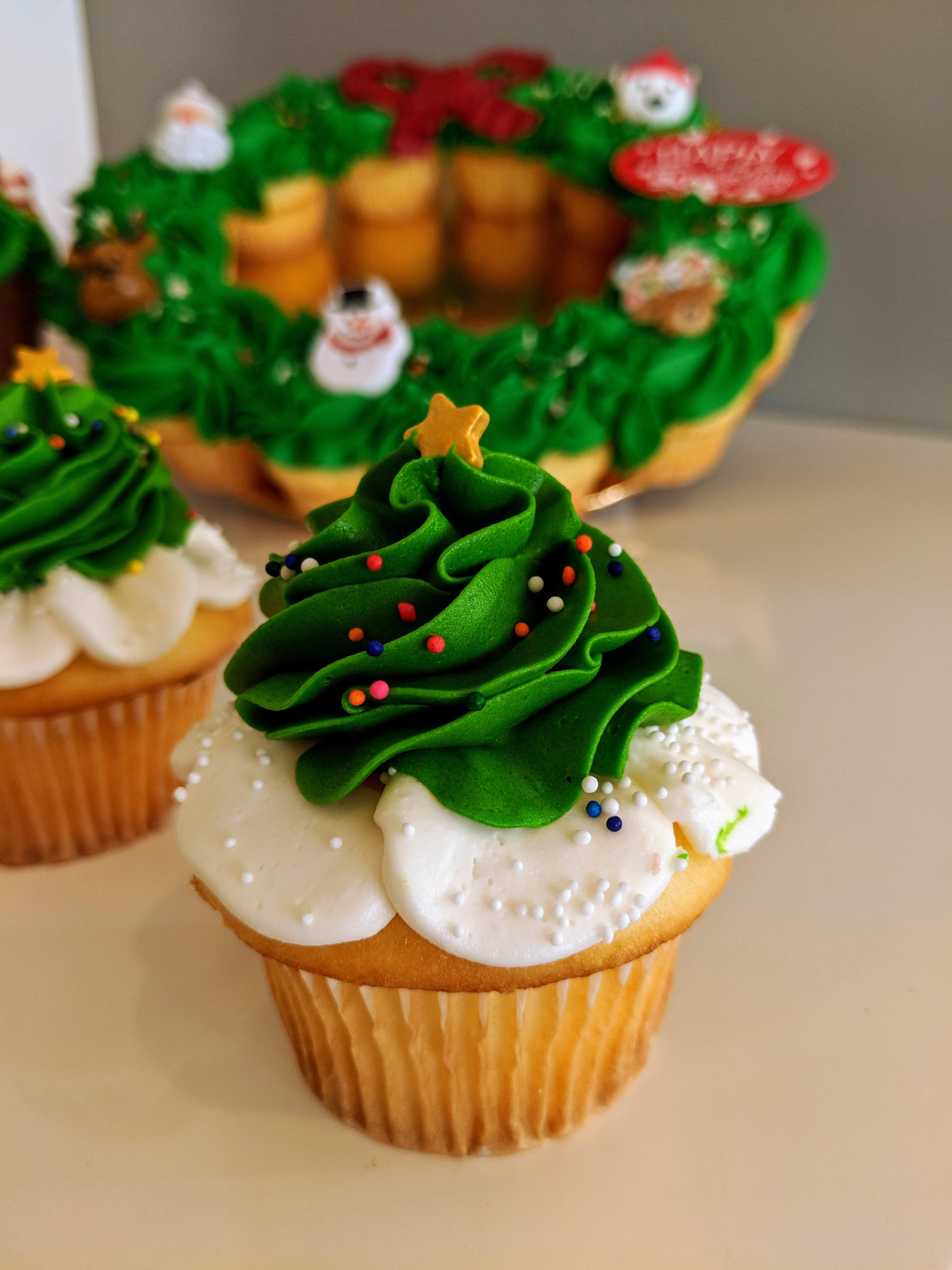 Christmas Tree Cupcake $3.50