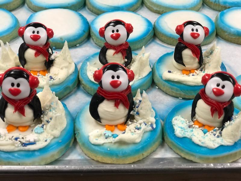 3D Penguin Sugar Cookies