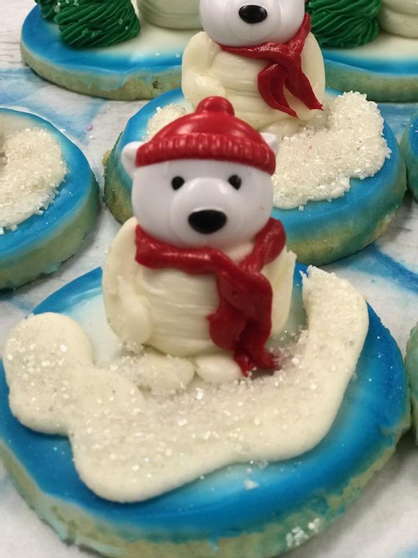 Polar Bear 3D Sugar Cookie $3.75