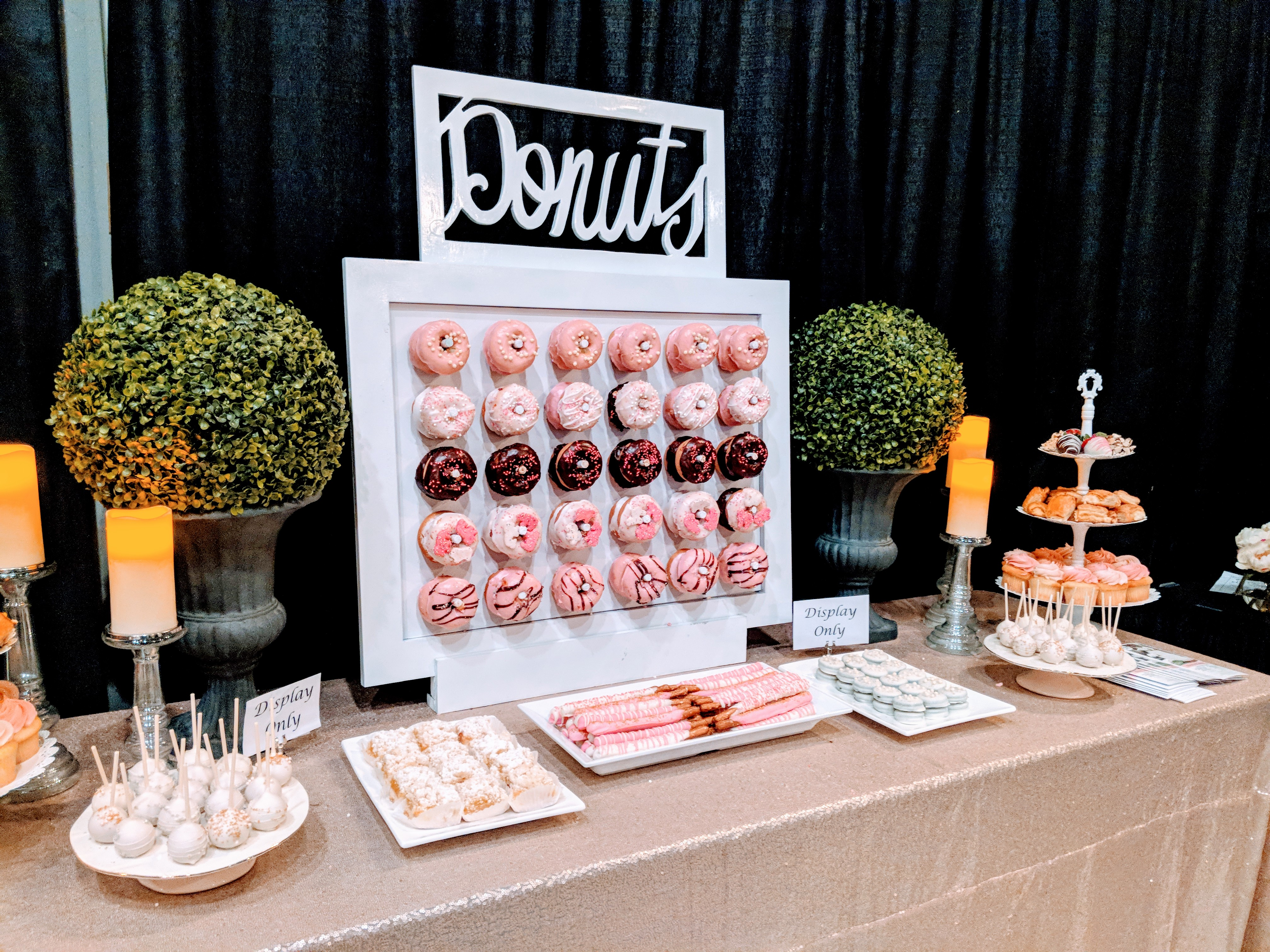 Dessert Bar with Donut Wall