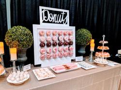 Dessert Bar with Donut Wall