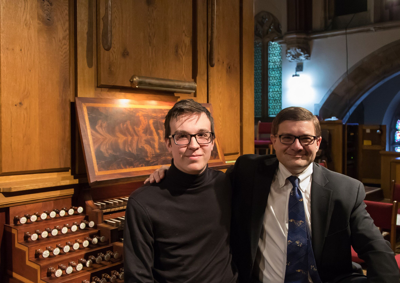 Sitting with Organist Aaron David Miller