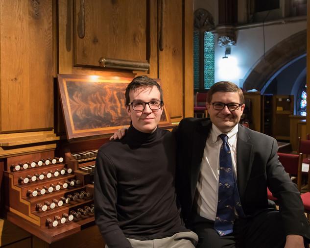 Sitting with Organist Aaron David Miller