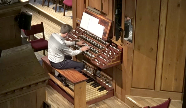 Playing at House of Hope on the Fisk Organ