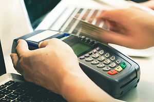 Hand Swiping Credit Card In Store : Stil