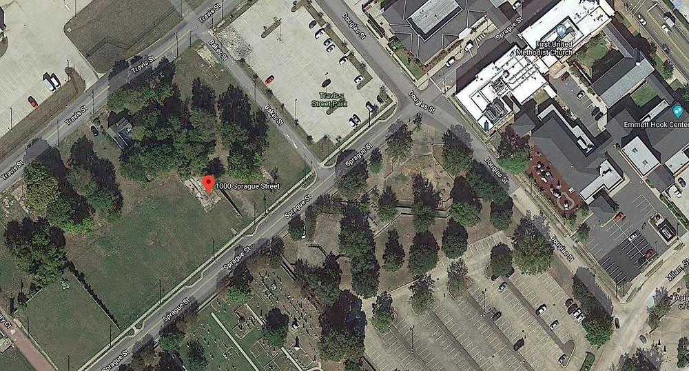 Shreveport Castle Hotel former site Google Maps