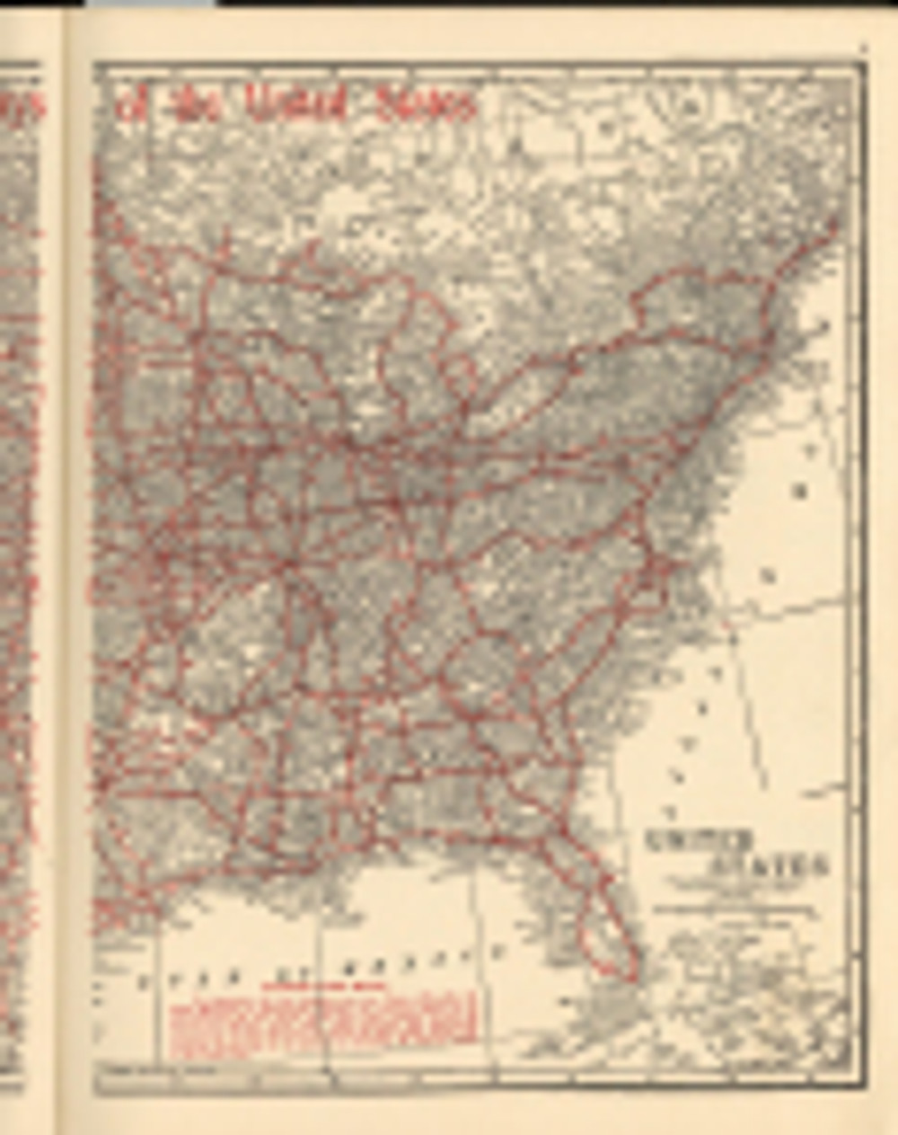 1918 Road Map to the east