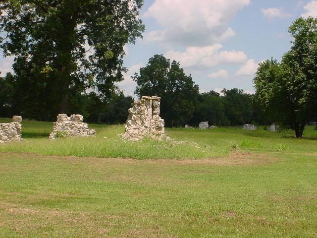 The same ruins that Grant Foreman photographed are even more ruined 100 years later when I took this picture of Fort Towson, Choctaw County in 2000
