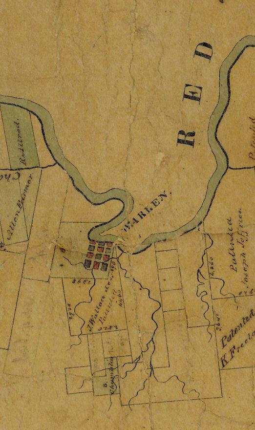 Warren on Red River 1841 GLO