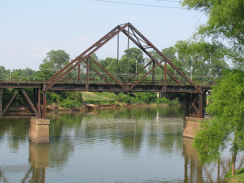 And where else but Louisiana can you find a triangular truss bridge?