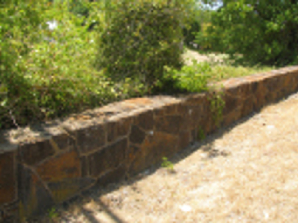 Denison wall on old katy right of way