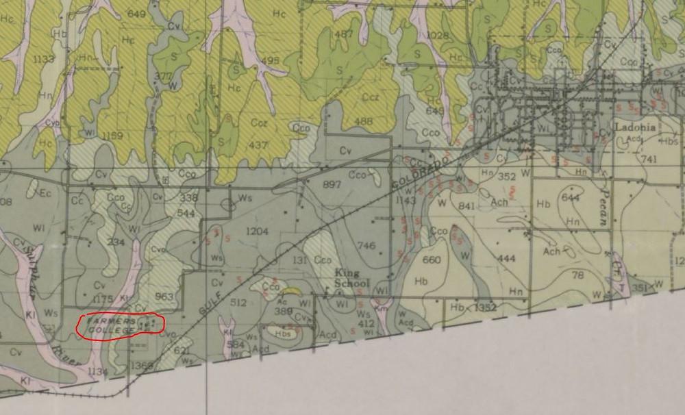 Farmers College 1946 Soil Map of Fannin County portal