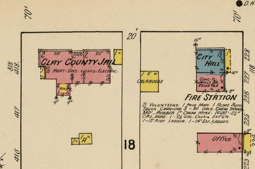 1922 henrietta sanborn map city jail and calaboose
