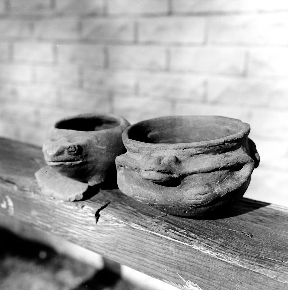 GS Caddo bowls frog effigies found by AC Looney 1962 AHC (2)