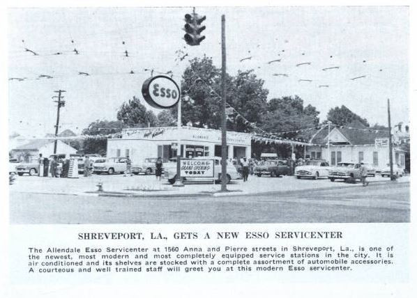 1956 Greenbook Shreveport Esso advertisement 1560 Anna and Pierre