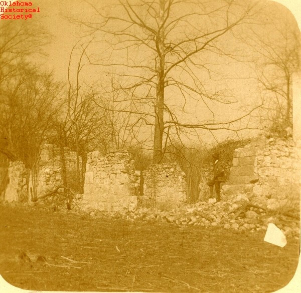 Grant Foreman one of Oklahomas first historians took a photo of the ruins of Fort Towson hoctaw County in 1900 Oklahoma Historical Society