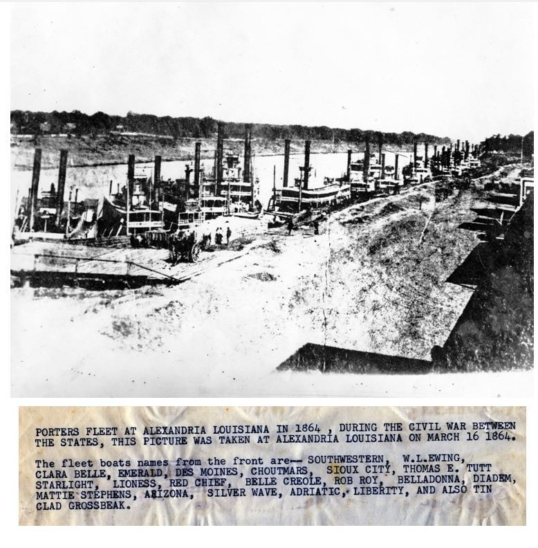 Alexandria porters fleet 1864 Louisiana History Museum Jose Dellmon collection