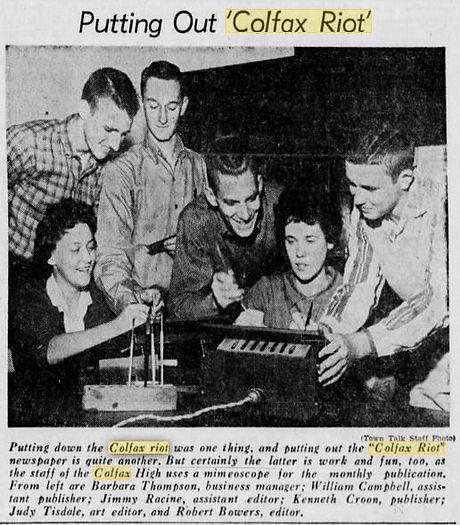 1960 Town Talk Alexandria LA Colfax Riot