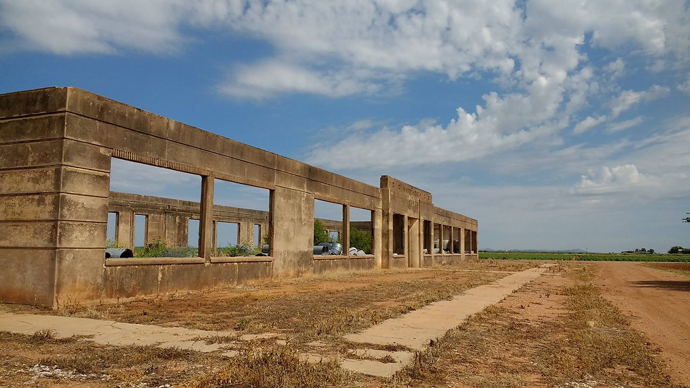 The school in Humphreys closed in 1961 and is now used for storage for cotton farmers