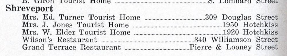 1956 Greenbook Shreveport
