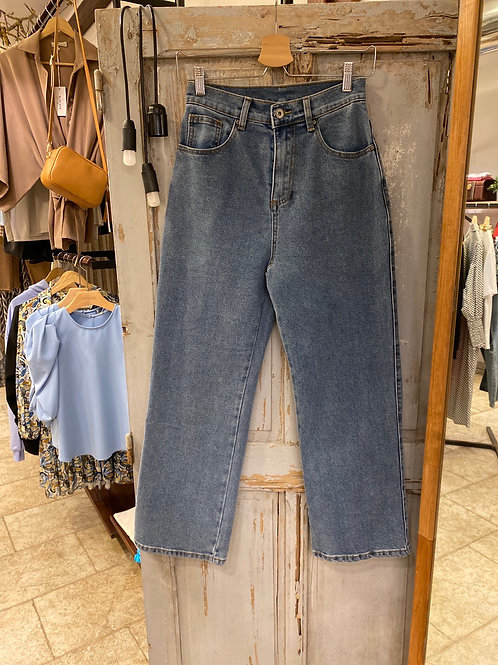 Jeans vita alta palazzo crop