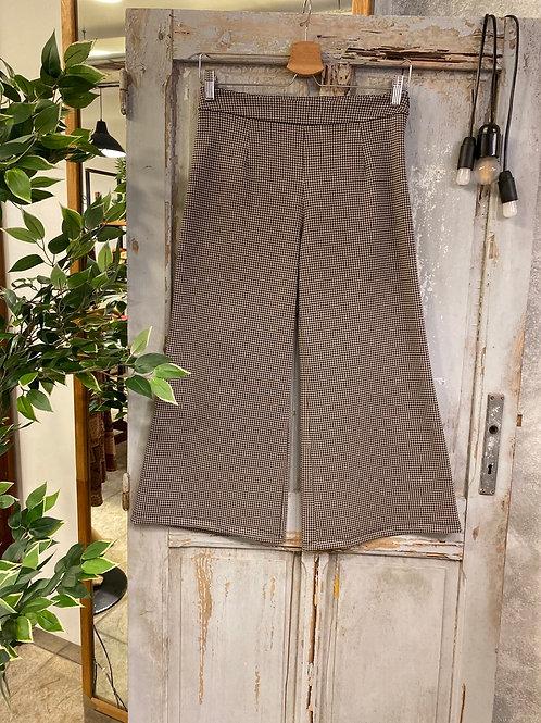 Pantalone crop vichy