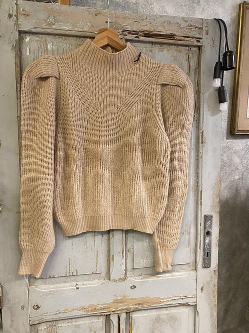 Maglione con bottoni collo