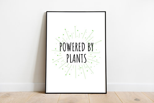 Powered By Plants Printable Poster, Animal Rights Quote, Vegan Quote, Vegan Art