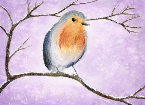 Winter Robin in Watercolour