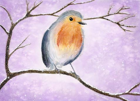 Winter Robin in Watercolour