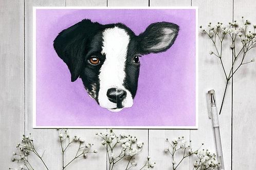 The Same - Watercolour Fine Art Print. Vegan Wall Art, Vegan Nursery Decor