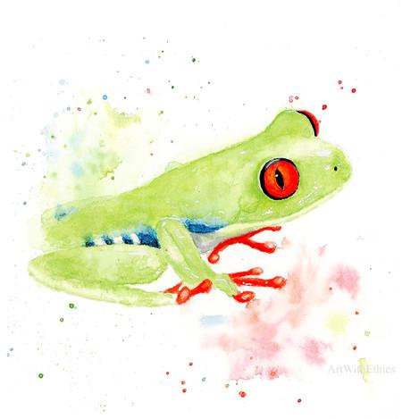 Frog Miniature Watercolour