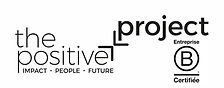 the positive project - logo black bcorp.