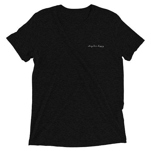 Signature Logo Tri-Blend Short Sleeve T-Shirt - Black