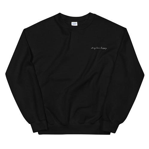 Signature Logo Unisex Crew Neck Sweatshirt - Black