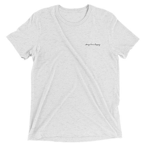 Signature Logo Tri-Blend Short Sleeve T-Shirt - Grey