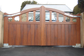 Yorkshire Joiner Made Bespoke Wooden Automated Gate