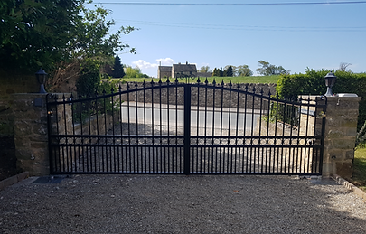 Yorkshire Fabricated Steel Automated Gate