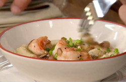Country Ham, Shrimp and Grits