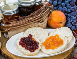Concord Grape Jam and Peach-Rosemary Jam