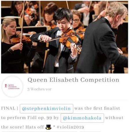 Stephen Kim Violin plays Kimmo Hakola Fidl