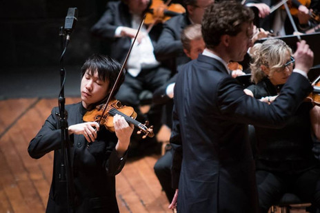 Stephen Kim Violin at Paganini Violin Competition plays Paganini Violin Concerto No. 1 in Genoa, Italy