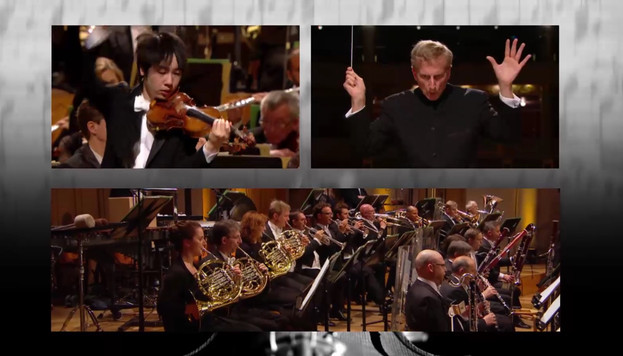 Stephen Kim Violin at Queen Elisabeth plays Brahms Violin Concerto with Belgium National Orchestra.