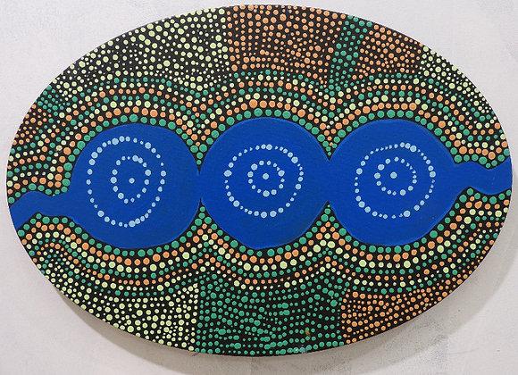 """EF 025 """"Waterholes"""" ~ Eileen Forrest, Fitzroy Crossing"""