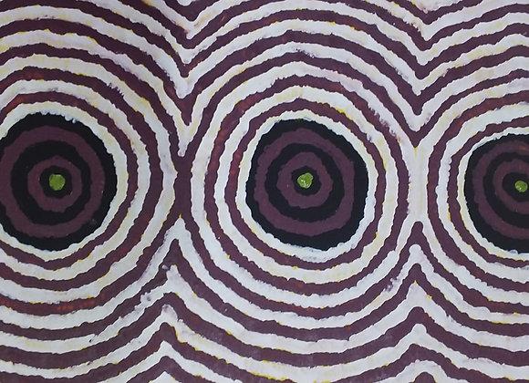 "Sandbanks of Wilkinkarra (Lake Mackay)"" ~ Pauline Mandijarra, Balgo"
