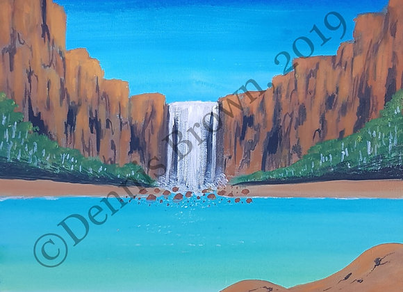 """""""Kimberley Waterfalls"""" ~ Dennis Brown, Fitzroy Crossing"""