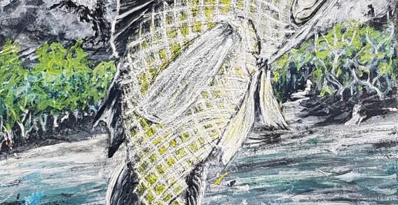 """""""Barramundi Dreaming"""" ~ Herbie Marshall, Broome"""